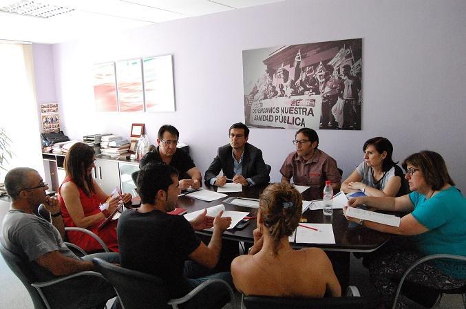 Cuenca en la reunión con CCOO.