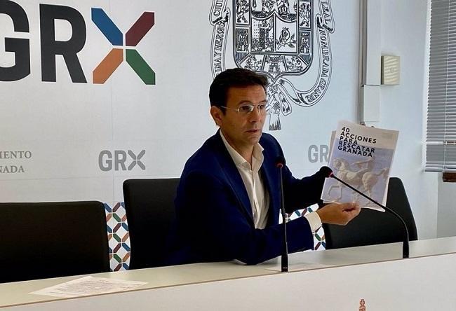 Francisco Cuenca en la rueda de prensa de este lunes.
