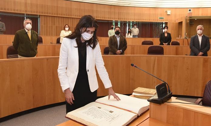 Ana María Ruiz Reyes, en el acto de toma de posesión.