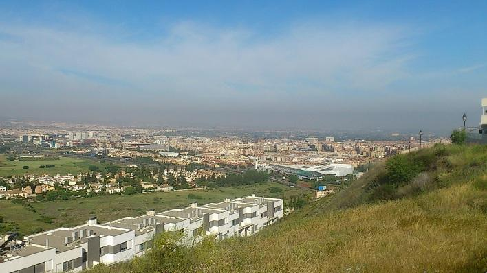 Boina de contaminación sobre la capital.