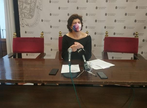 La concejala Elisa Cabrerizo, en rueda de prensa.