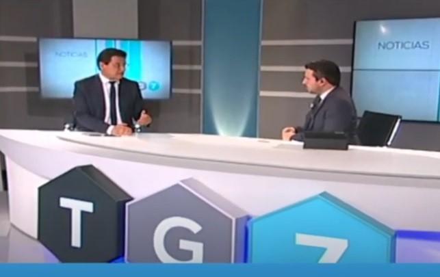 El alcalde, en una entrevista con TG7.