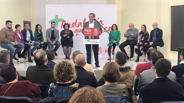 Presentación de la candidatura en Guadix.