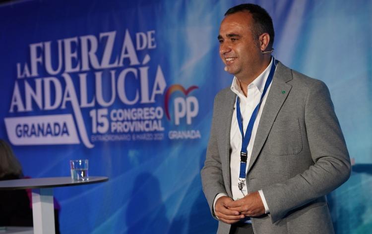 Francisco Rodríguez, tras ser elegido presidente del PP de Granada.