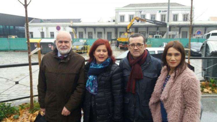De izquierda a derecha, Gregorio Cámara, Elvira Ramón, Miguel Castellano y Olga Manzano.