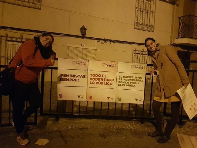 Kande Rienda, concejala de Participación Ciudadana, Transparencia y Comunicación, junto a la alcaldesa, Lucrecia Rienda.