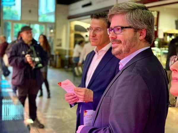 Fran Hervías y Luis Salvador en una visita electoral.