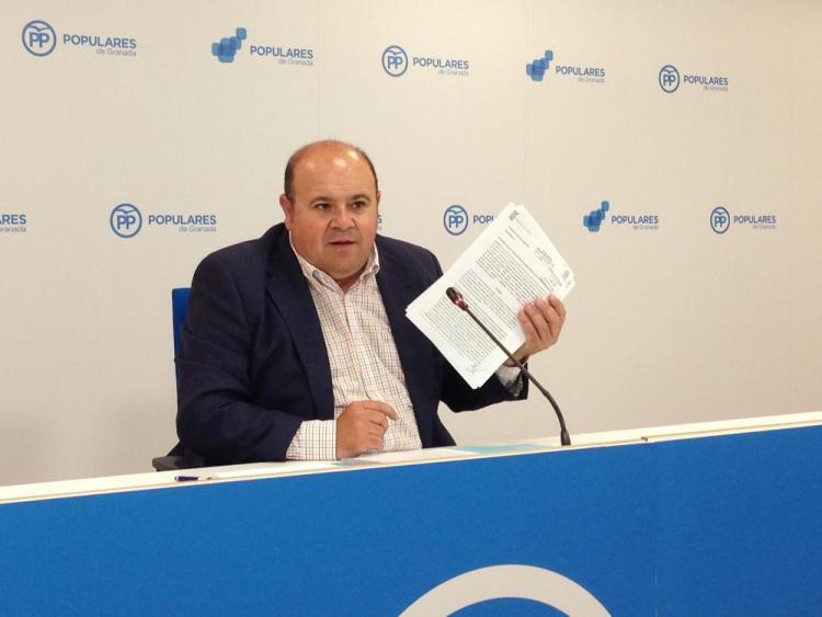 José Robles, este lunes en rueda de prensa.