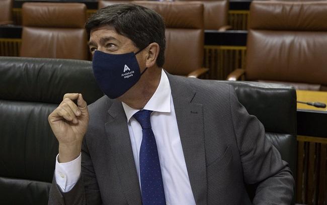 Juan Marín en el Parlamento.
