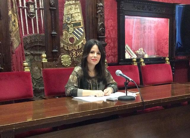 Lorena Rodríguez, este jueves en rueda de prensa.
