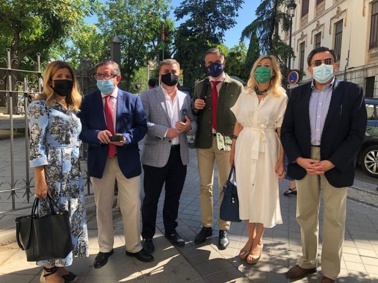 Los concejales del PP en una imagen de archivo.