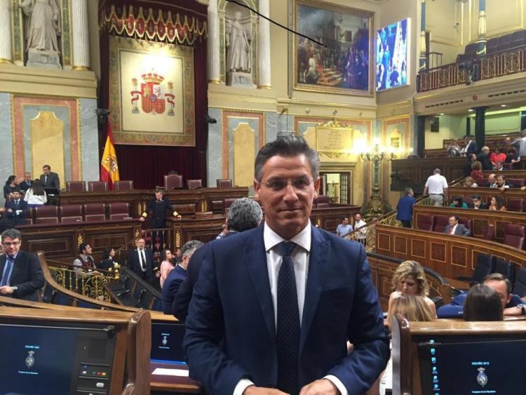 Luis Salvador, en el Congreso.