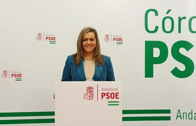María Jesús Serrano en rueda de prensa.
