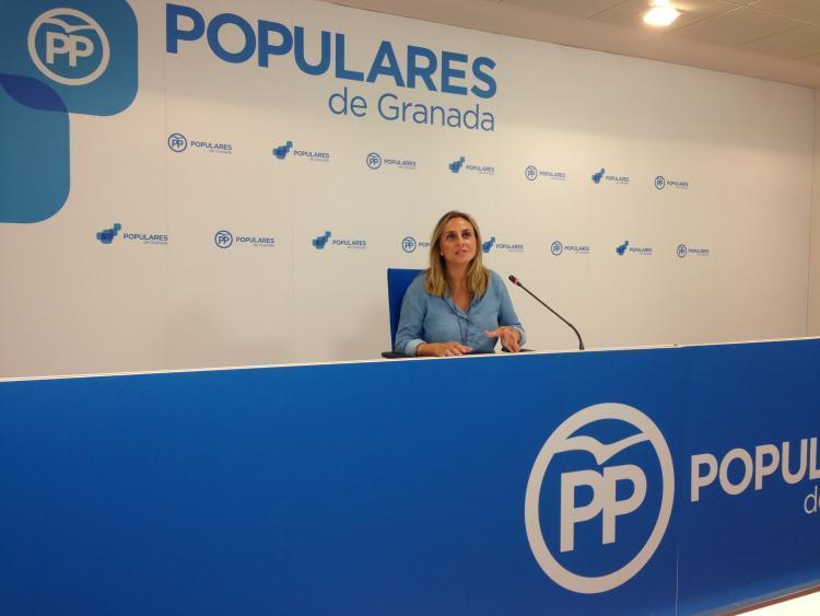 """La parlamentaria del PP cree que el Gobierno andaluz es """"continuista""""."""