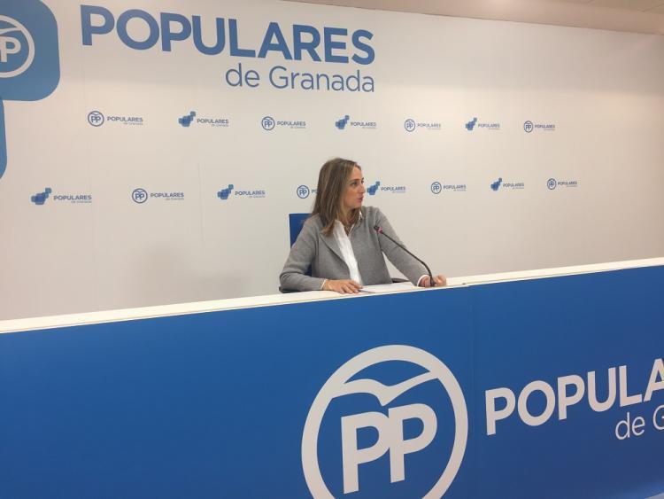 Marifrán Carazo, en rueda de prensa.