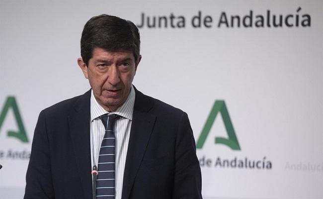 Juan Marín, en la rueda de prensa de este miércoles, posterior al Consejo de Gobierno.