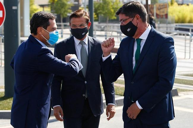 Moreno, Salvador y Marín en una imagen de archivo.