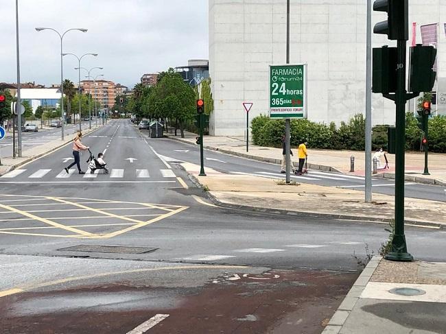 Entorno de la Avenida de la Ciencia de la capital este domingo.