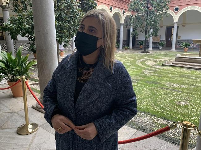 la concejal socialista Nuria Gutiérrez.
