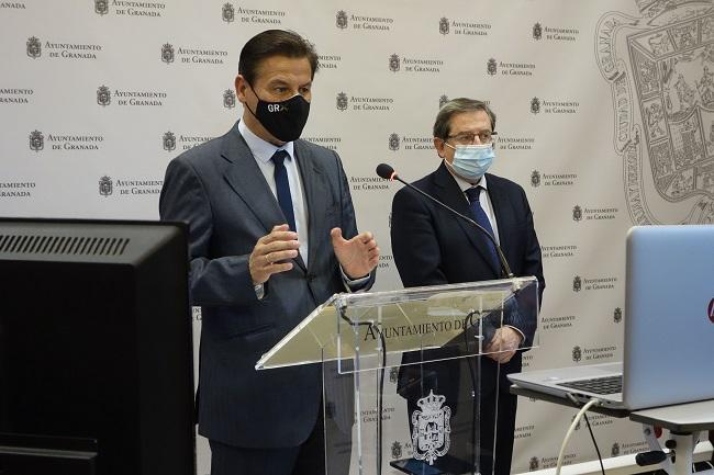Luis Salvador, junto a Luis González, en rueda de prensa este miércoles.