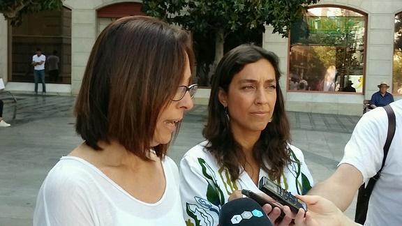Mayte Olalla y Nuria Martínez.