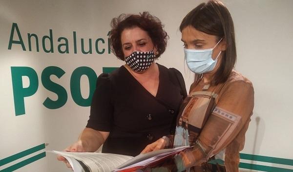 Olga Manzano, en una imagen de archivo junto a Teresa Jiménez.