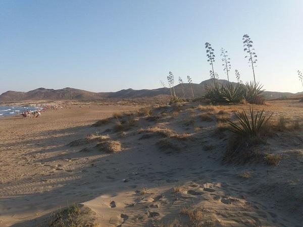 Playa de los Genoveses, en el Parque Natural de Cabo de Gata-Níjar.