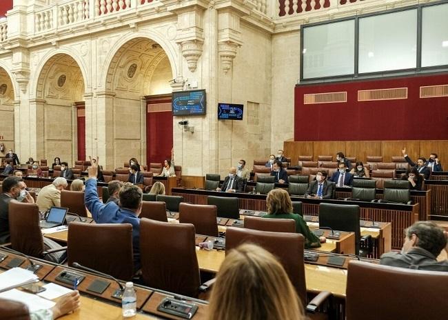 Votación en el Pleno del Parlamento andaluz (Foto de archivo).