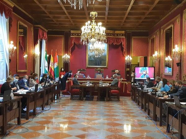 Pleno del Ayuntamiento de Granada.