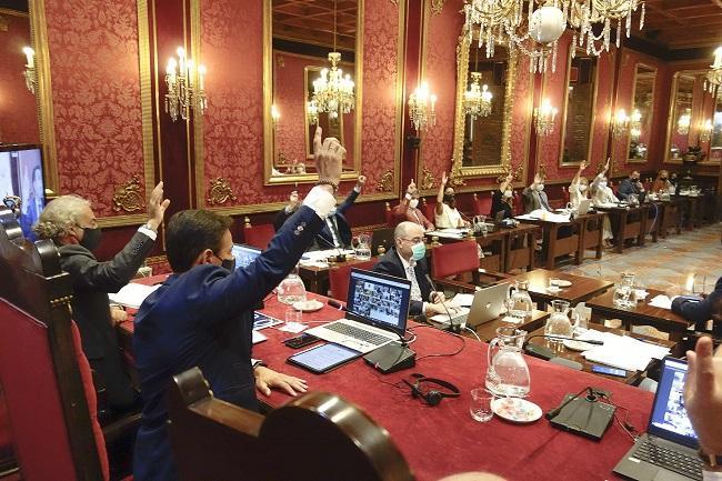 Imagen del pleno que aprobó el presupuesto de la capital este año.