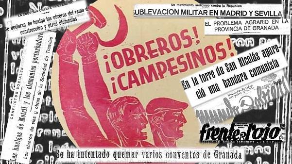 Composición a partir del cartel electoral del PCE para las elecciones de 1933.