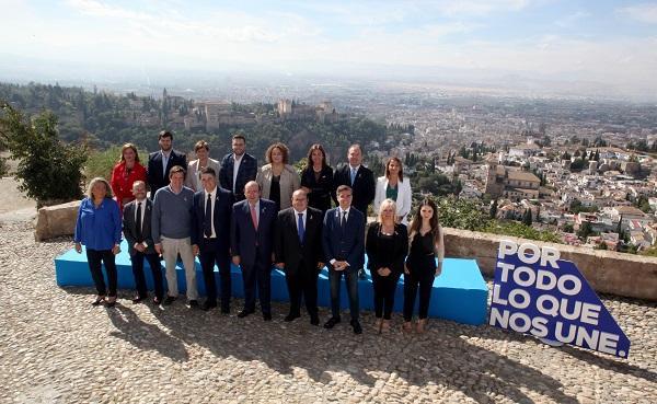 Los candidatos del PP en el Mirador de San Miguel.