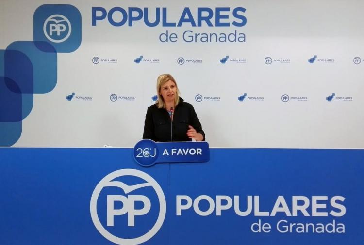Inmaculada Hernández, en rueda de prensa.