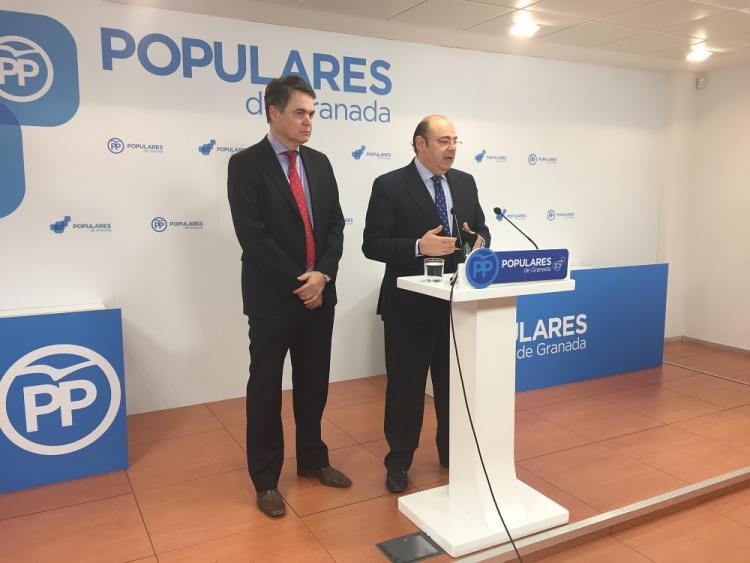 Imagen de la comparecencia de Pérez y Rojas en enero de 2017.