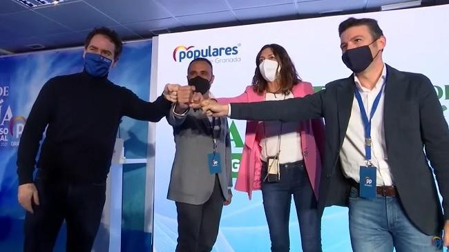 García Egea, en el congreso del PP en el que fue elegido Francisco Rodríguez.