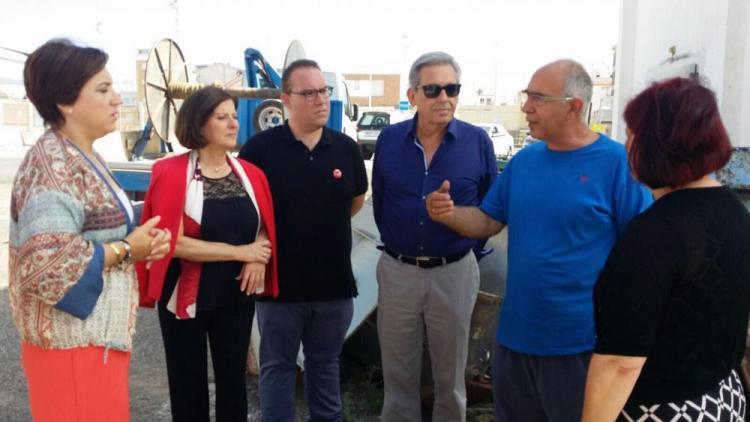 Representantes socialistas, en la Costa.
