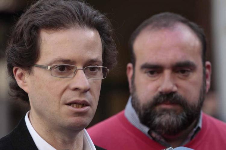 Manuel Morales junto a Francisco Puentedura.