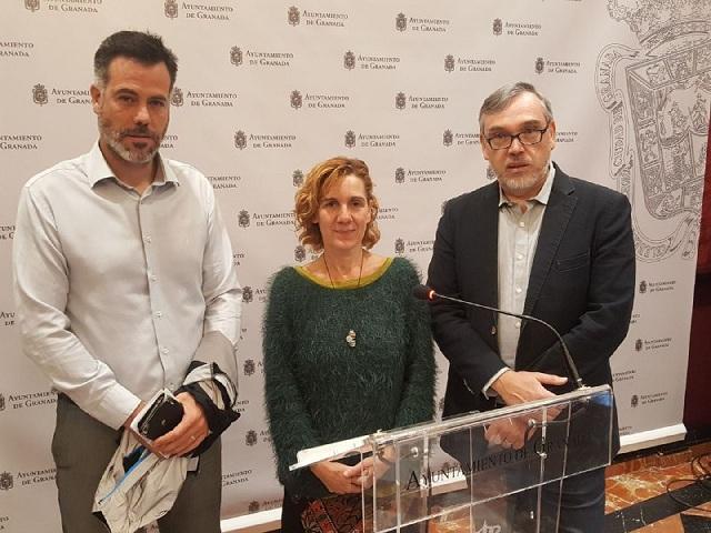David Sánchez, Pilar Rivas y Héctor Gachs.