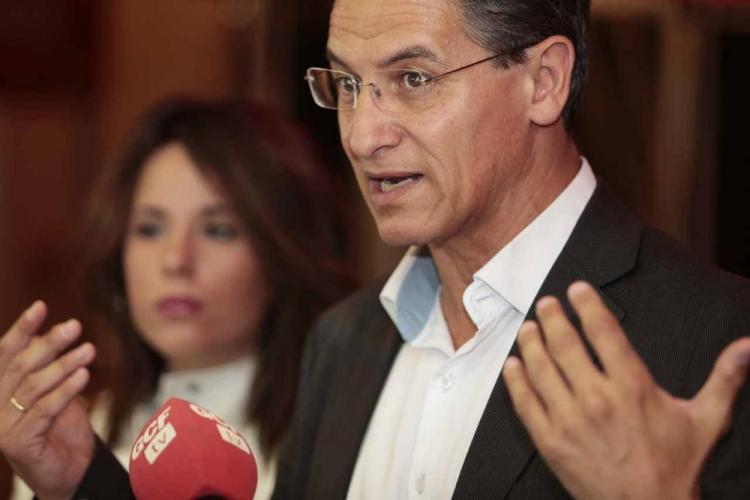 Luis Salvador en su comparecencia al día siguiente de las elecciones.