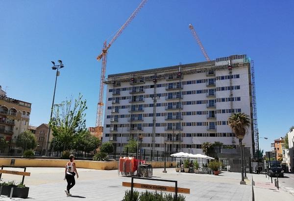 Estado de edificio el pasado abril.