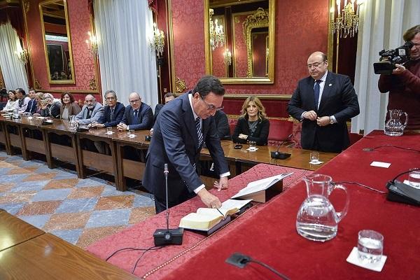 Sebastián Pérez, esta semana, en el pleno del Consejo Social.