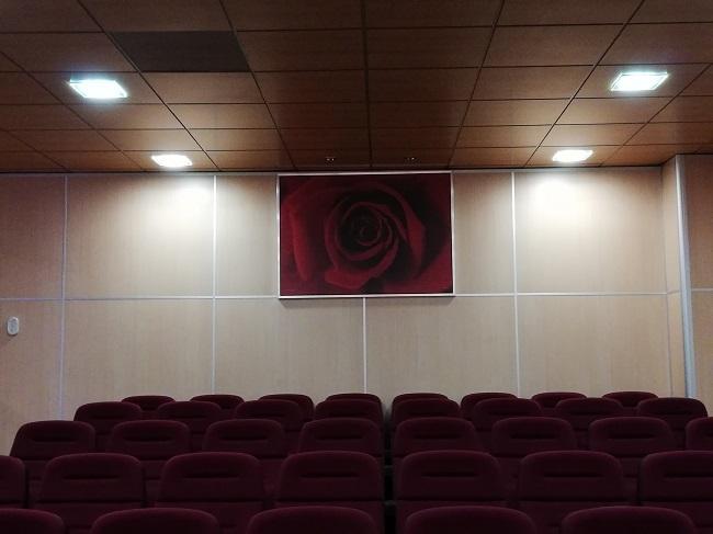 Salón de actos de la sede provincial socialista.
