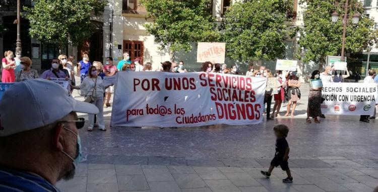 Protesta de los trabajadores del área, en junio pasado.
