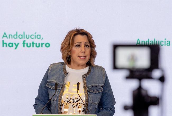 Susana Díaz, este jueves en Sevillla