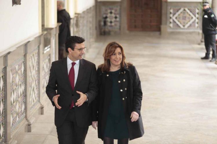 Susana Díaz con Francisco Cuenca, la pasada semana en Granada.