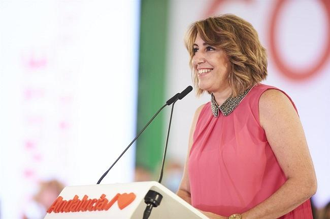 Susana Díaz este lunes en el comité director del PSOE.