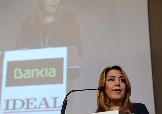 Susana Díaz durante su conferencia 'Andalucía ante los retos de su futuro'.