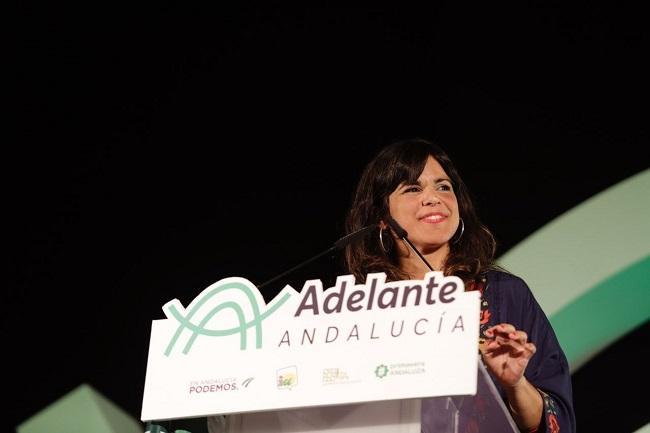 La presidenta del grupo parlamentario de Adelante Andalucía, Teresa Rodríguez, en una foto de archivo.