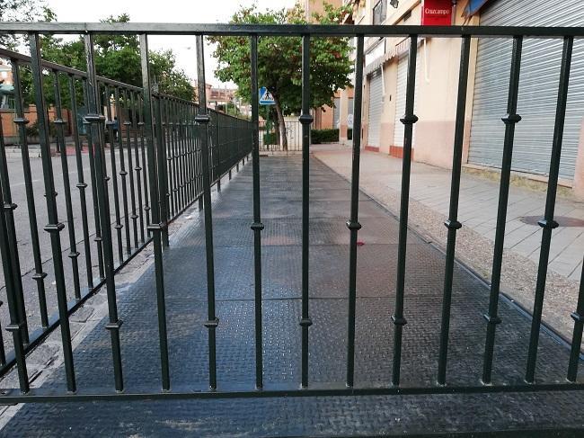 Terraza cerrada, esta semana, en el Zaidín.
