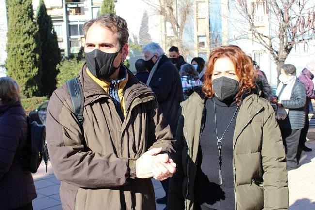 Toni Valero y Mari Carmen Pérez, este miércoles en Granada.